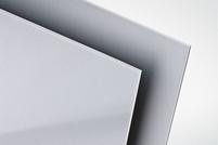 Polystyreen plaat zilver met. glans (op=op)