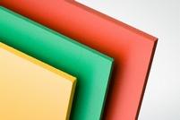 PVC geschuimde plaat rood (6 stuks)