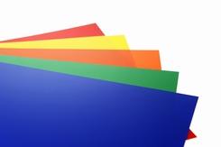 PVC folie set van 5 stuks A4 kleur mat