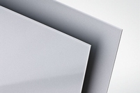 Polystyreen plaat zilver met. glans