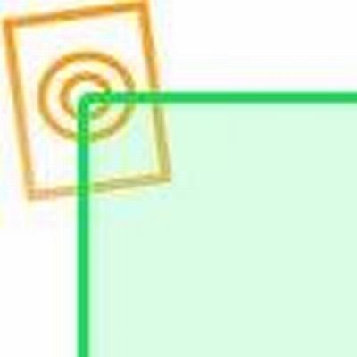 Acrylaat vierkant staf fluor groen 500x40x40mm