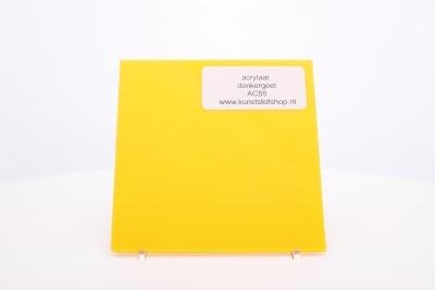 Acrylaat plaat donkergeel AC55