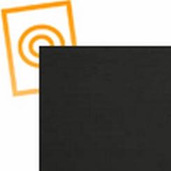 ABS plaat zwart met een zijde nerf