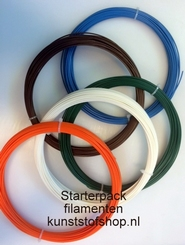 3D Filament ABS red transparent D:1,75mm  D:3mm