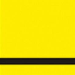 Graveerplaat geel-zwart
