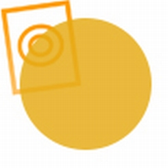 Acrylaat rond staf transparant oranje 1000x4mm