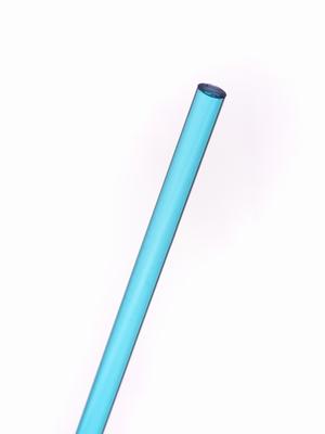 Acrylaat rond staf transparant aqua blauw 1000x6mm