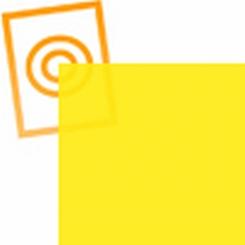 pvc folie transparant geel  1220x530x0,10mm