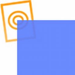 pvc folie transparant lavendel blauw  1220x530x0,10mm