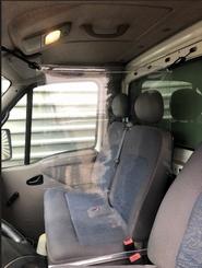 Transparante flexibele scheidingswand VW Caddy
