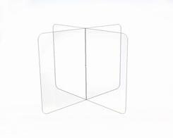 Transparante scherm kruis voor op tafel