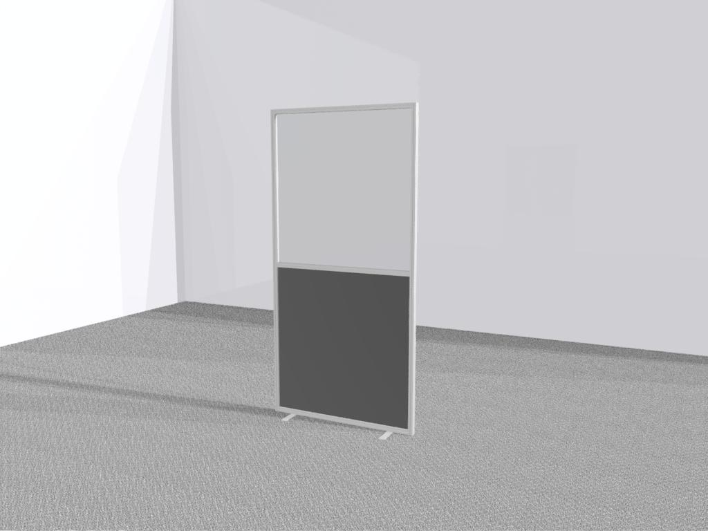Horecascherm staand transparant
