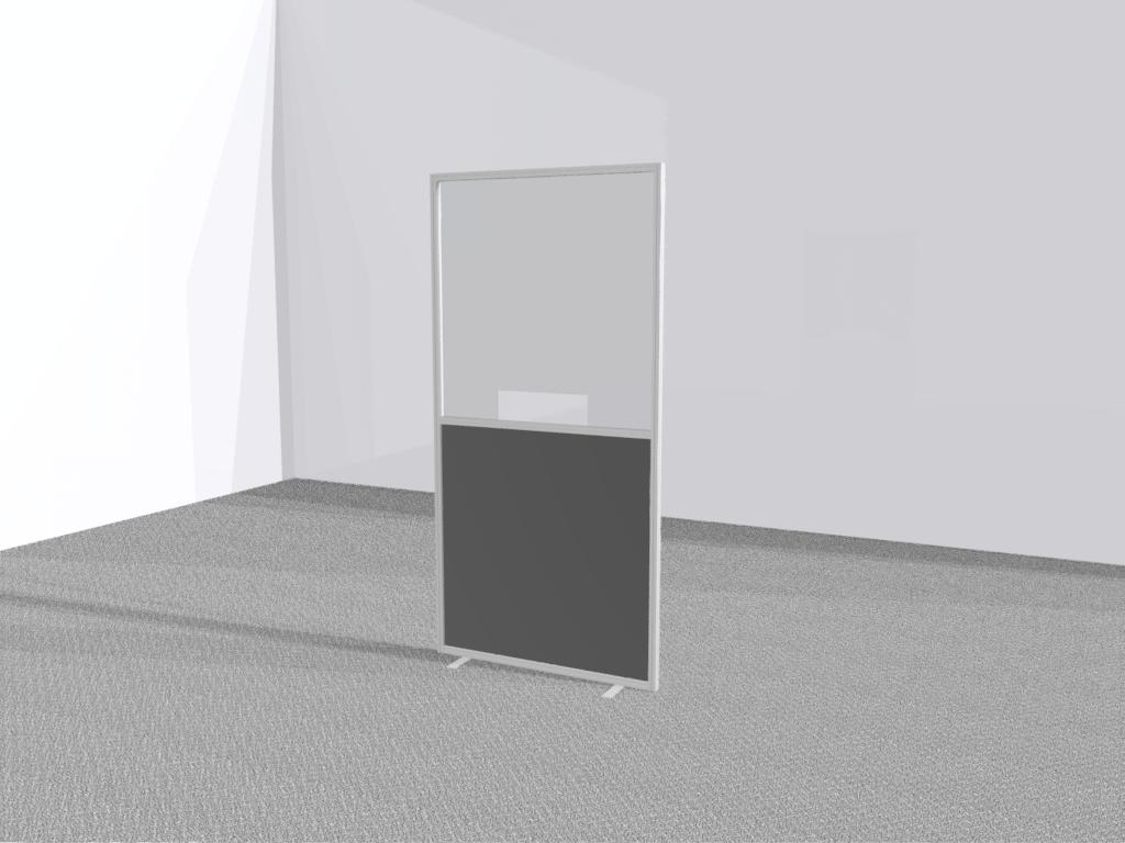Verkiezingsscherm staand transparant met uitsparing