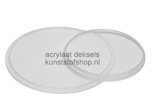 Acrylaat deksel voor buis D:50/2 mm