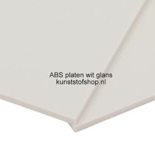 ABS plaat wit glans