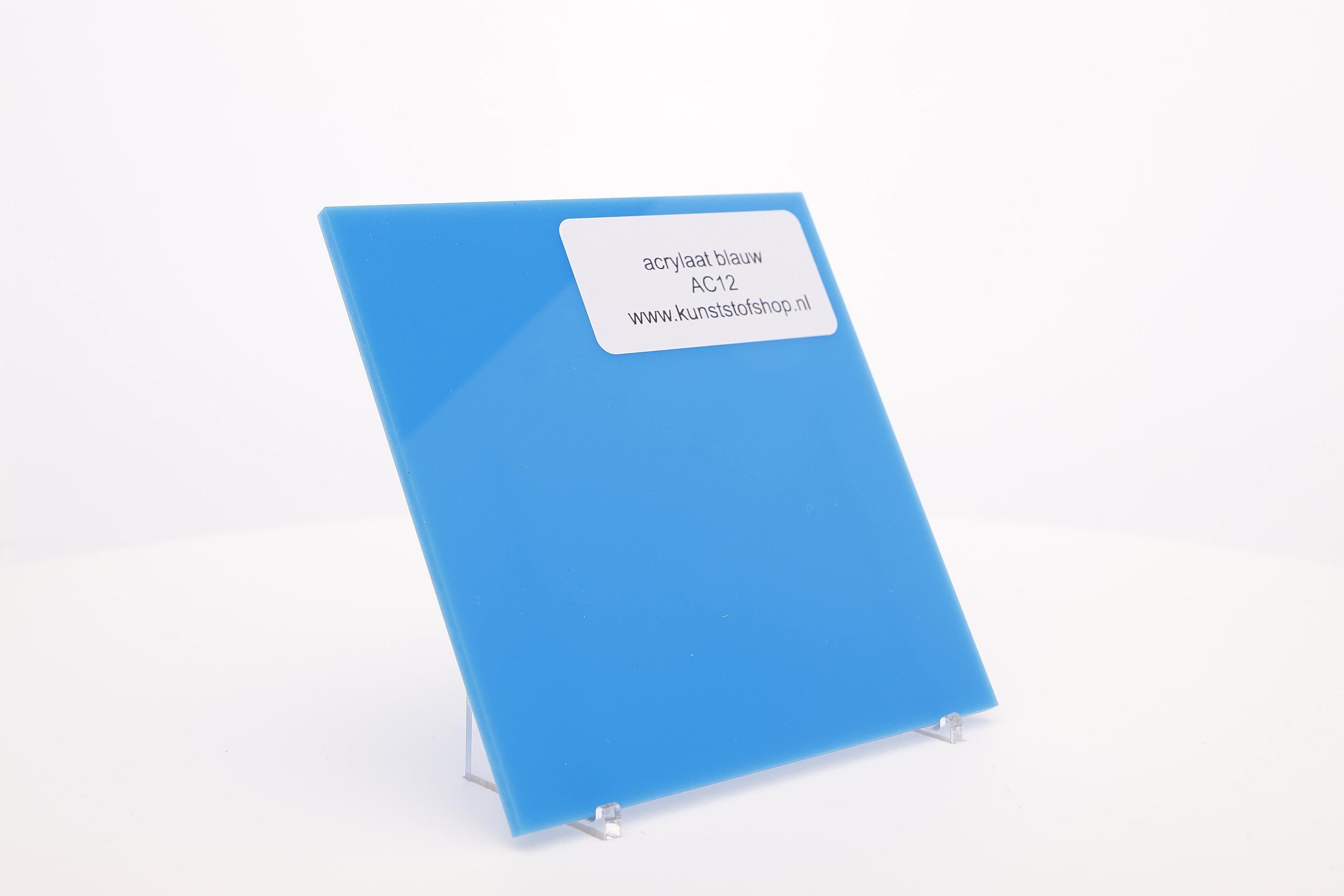 Acrylaat plaat blauw AC 12