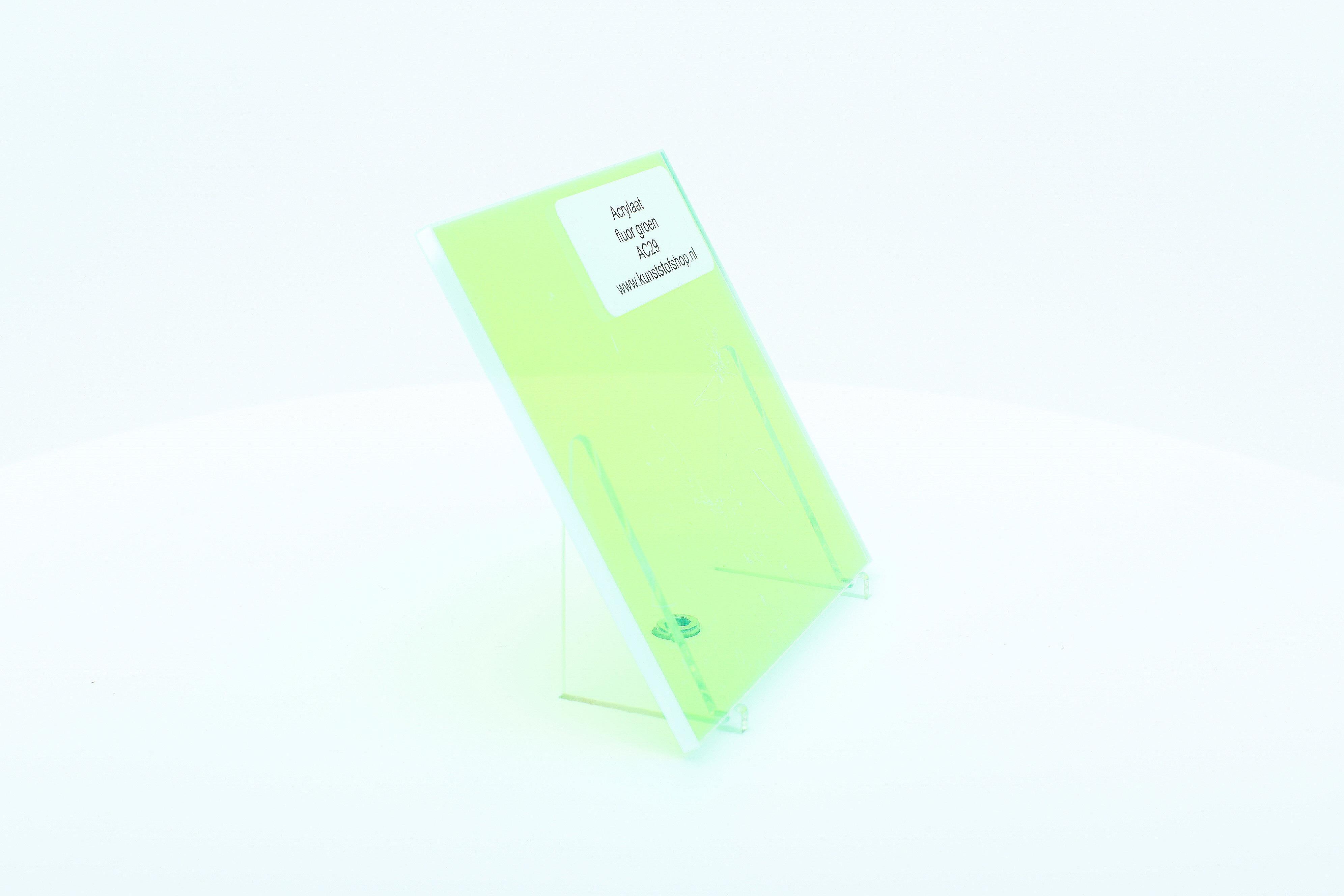 Acrylaat plaat fluor groen AC29