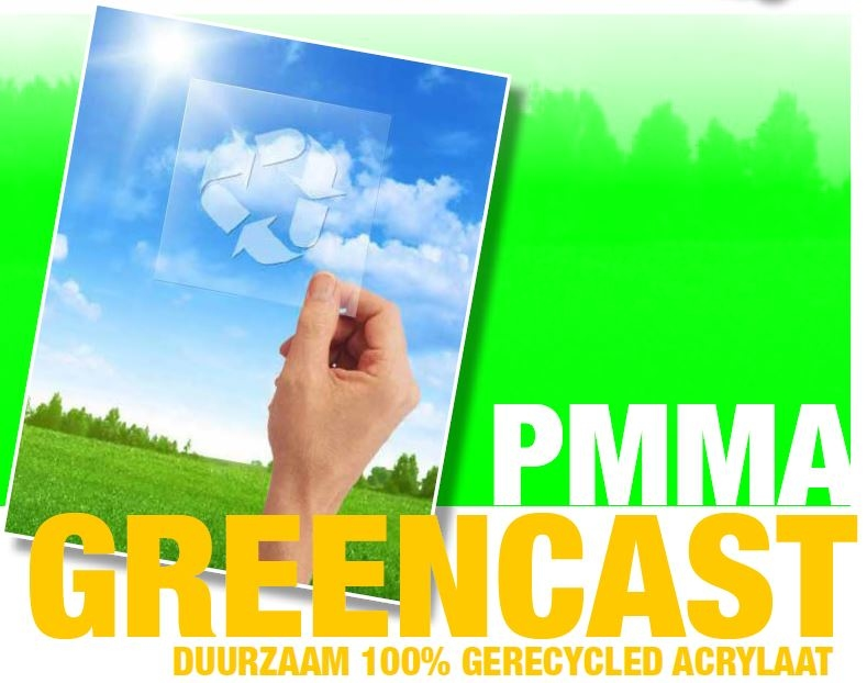 acrylaat plaat gegoten green cast transparant