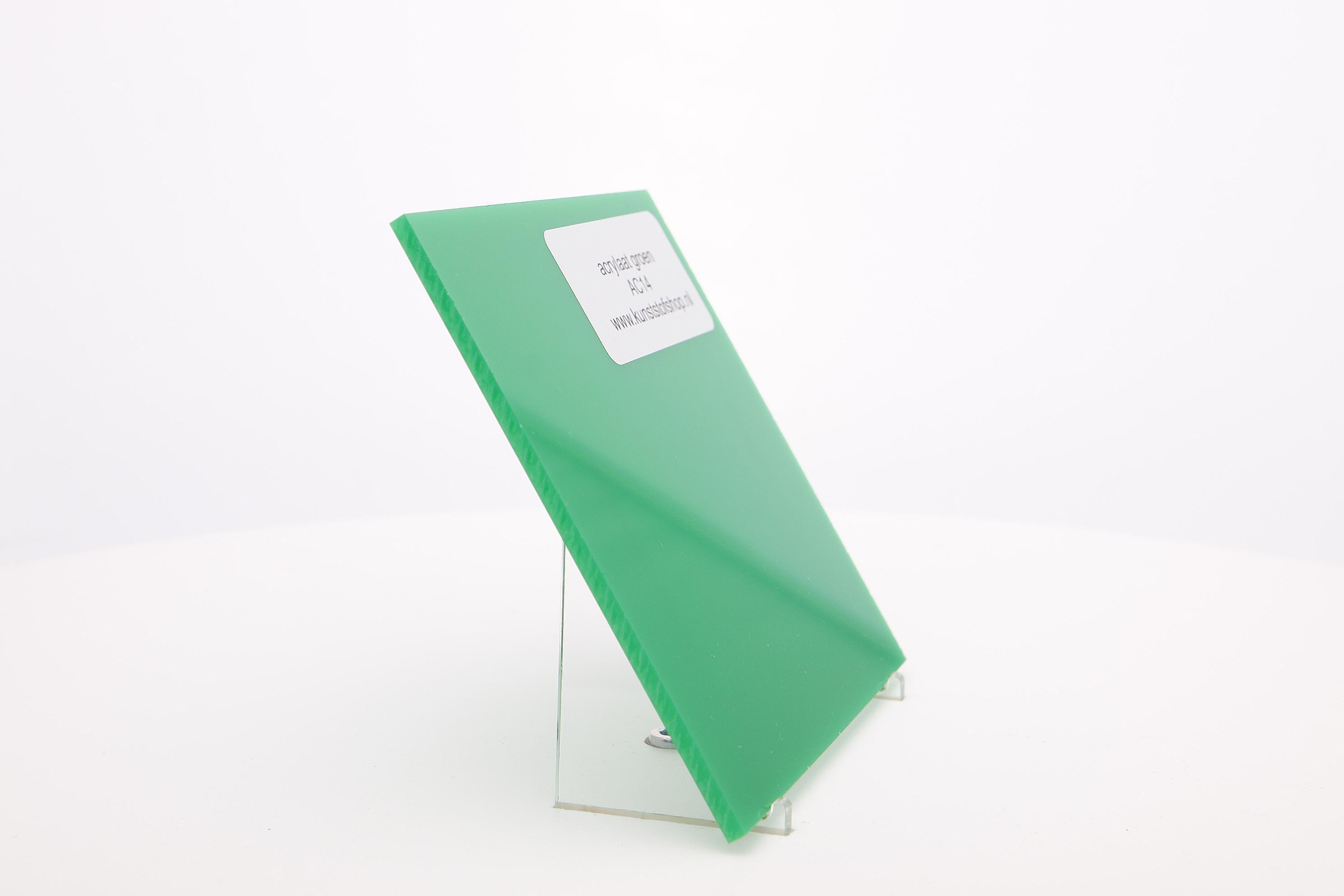 Acrylaat plaat groen AC14