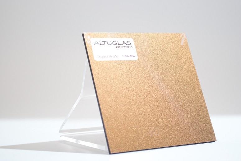 Acrylaat plaat metallic brons/zwart AC9008