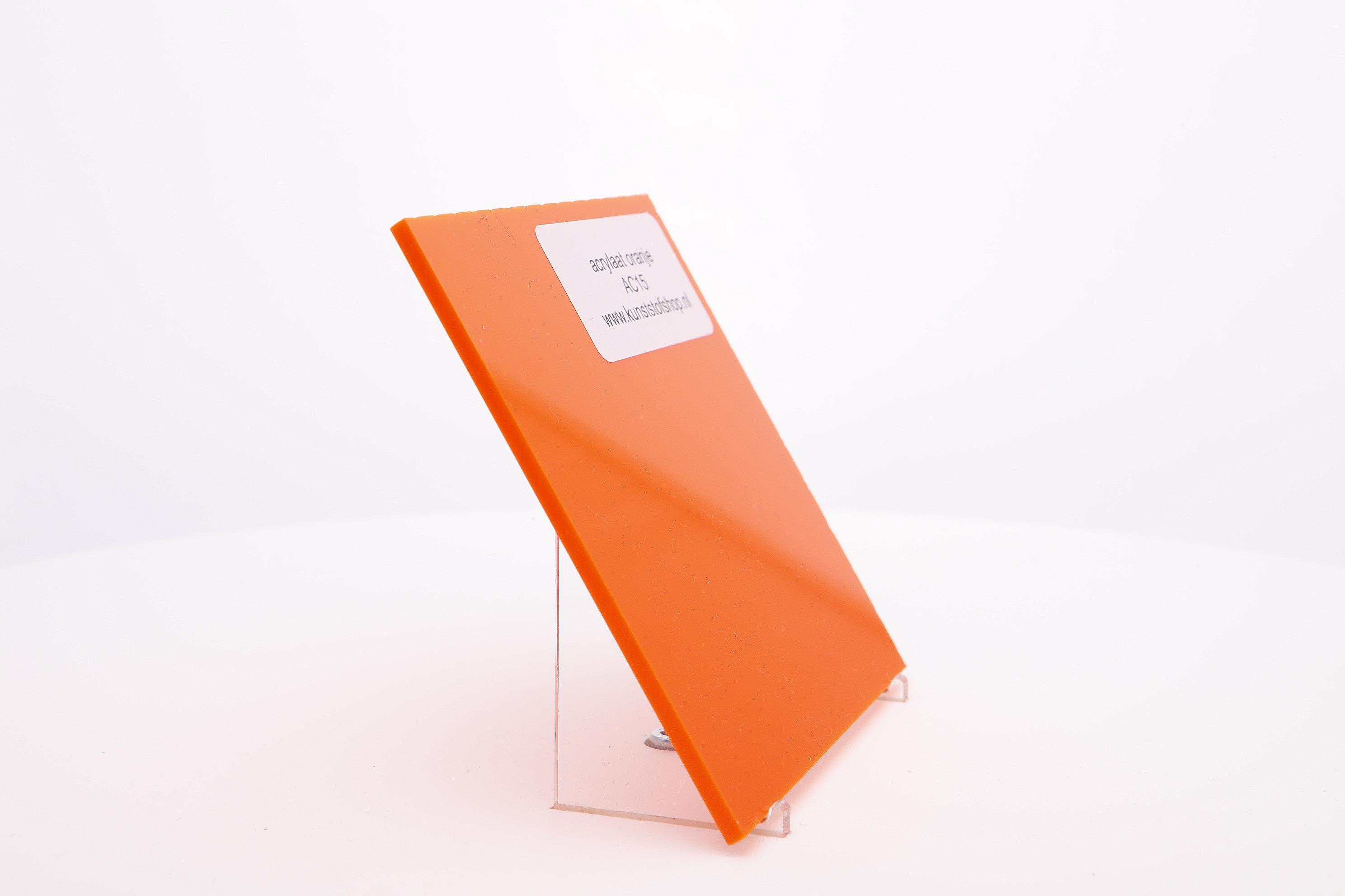 Acrylaat plaat oranje AC15