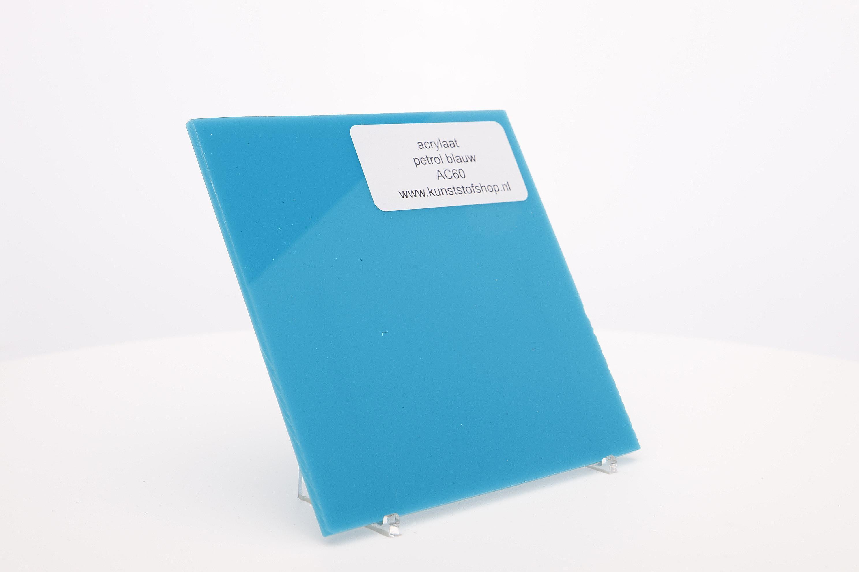 Acrylaat plaat petrol blauw AC60