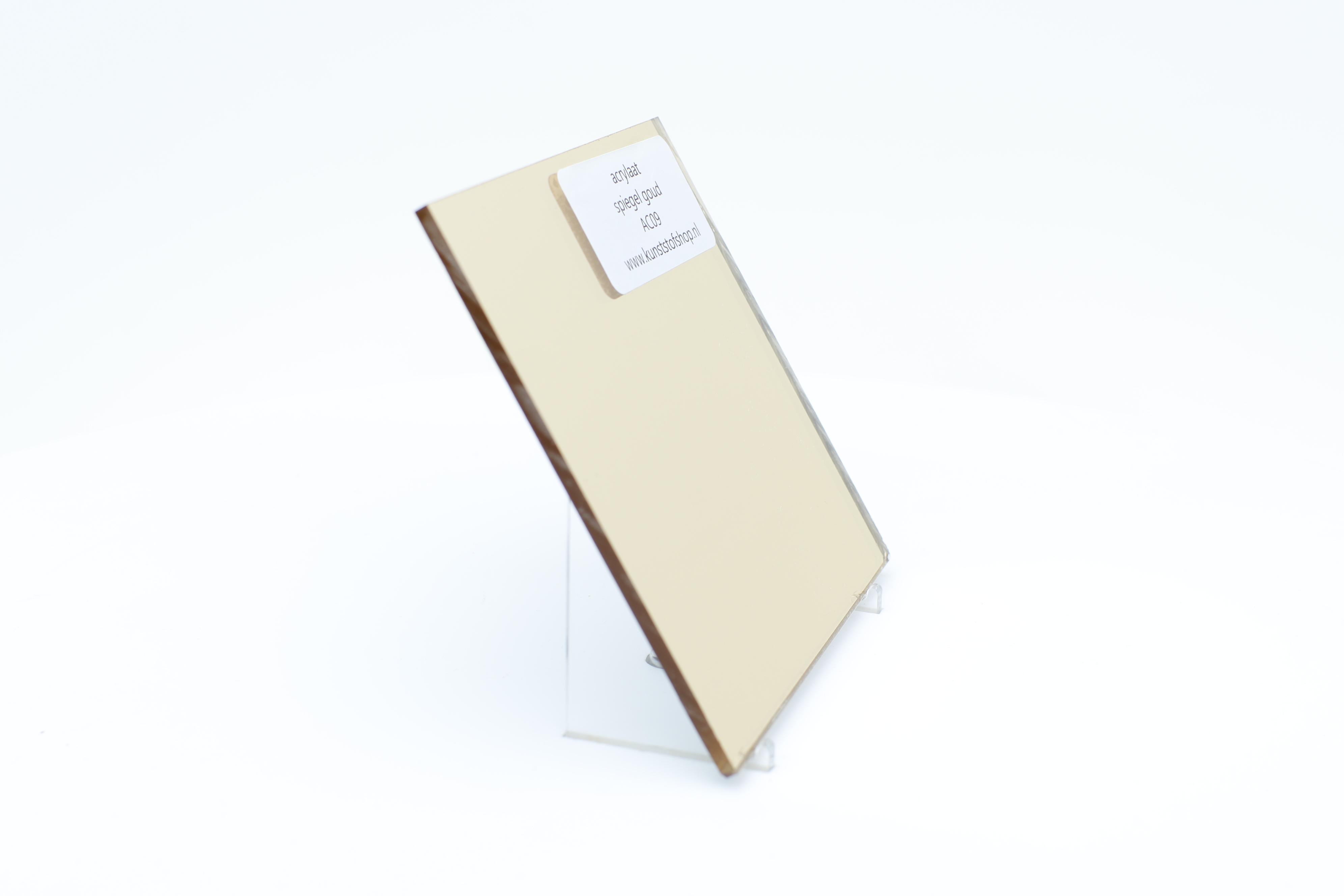 Acrylaat plaat spiegel goud AC09