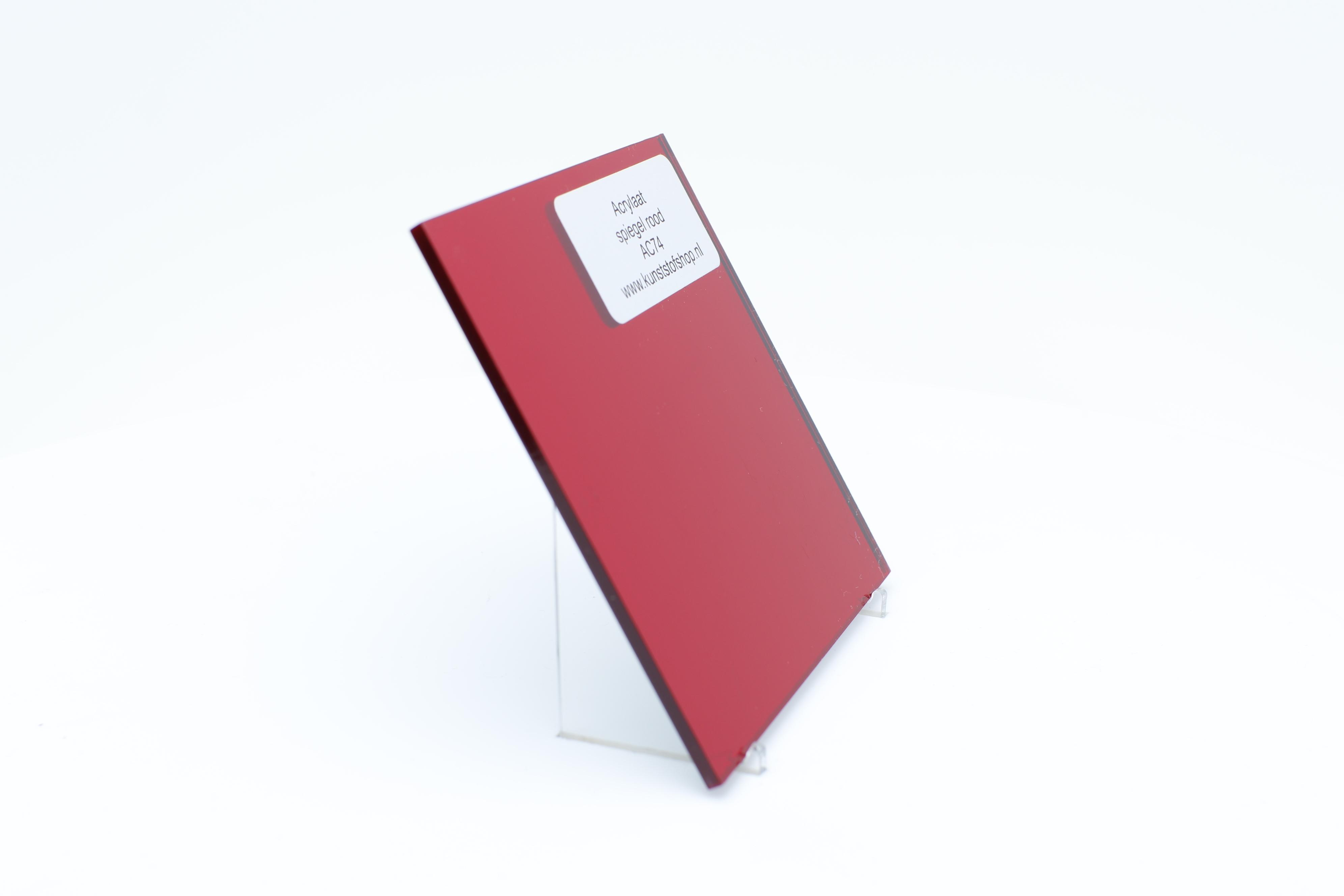 Acrylaat plaat spiegel rood AC74