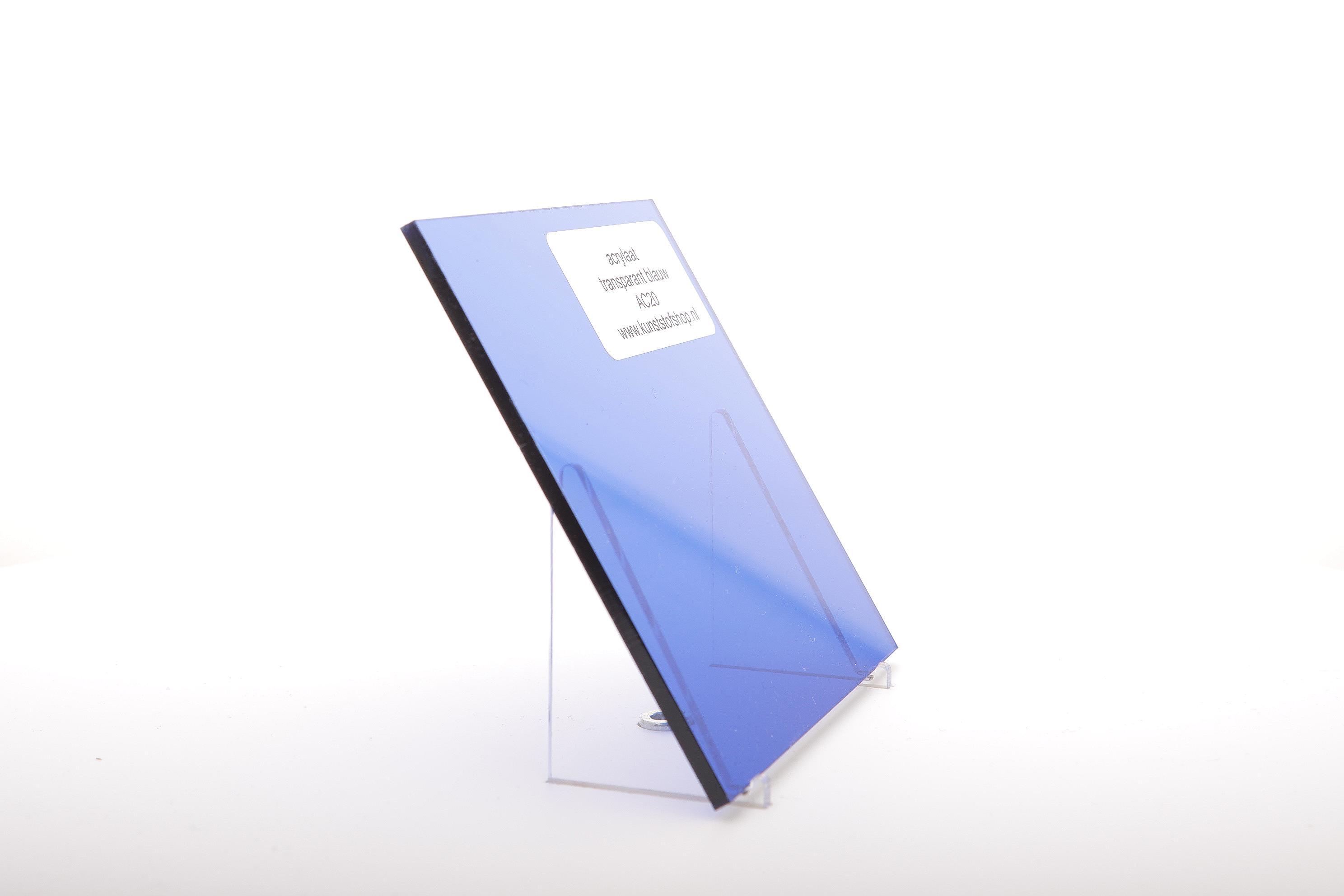 Acrylaat plaat transparant blauw AC20