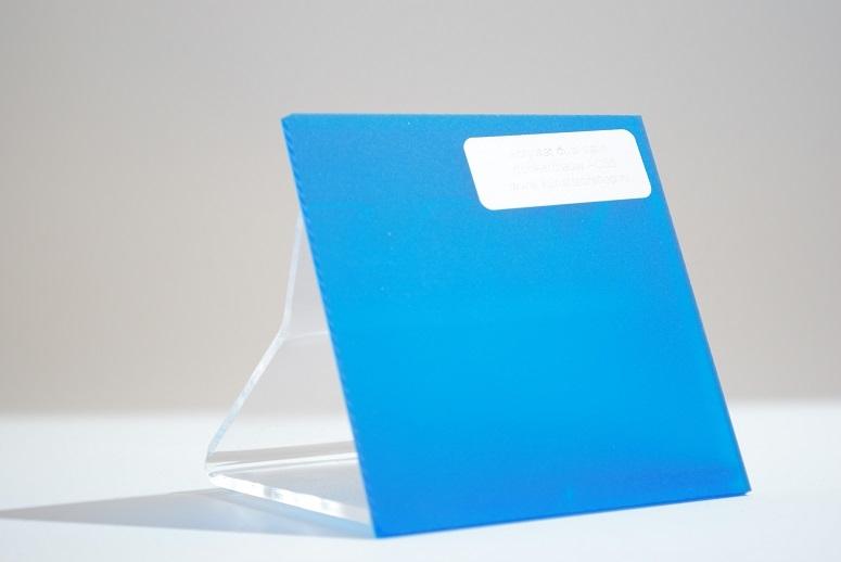 Acrylaat plaat transparant blauw mat/mat AC58