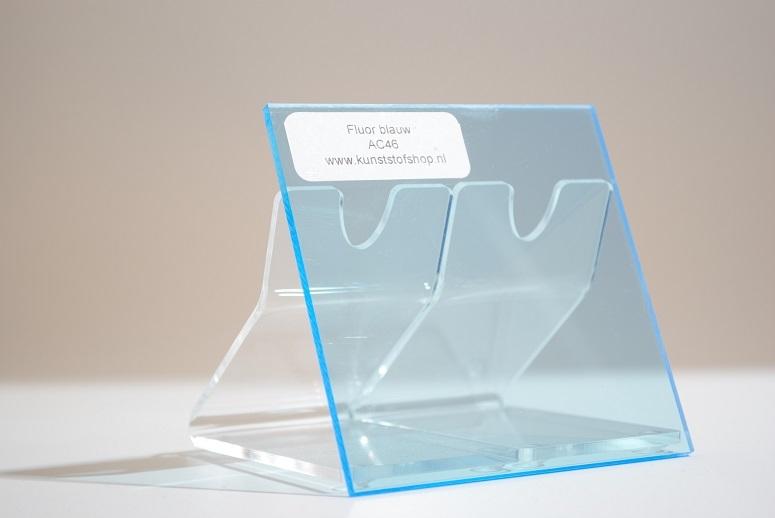 Acrylaat plaat transparant fluor blauw AC46