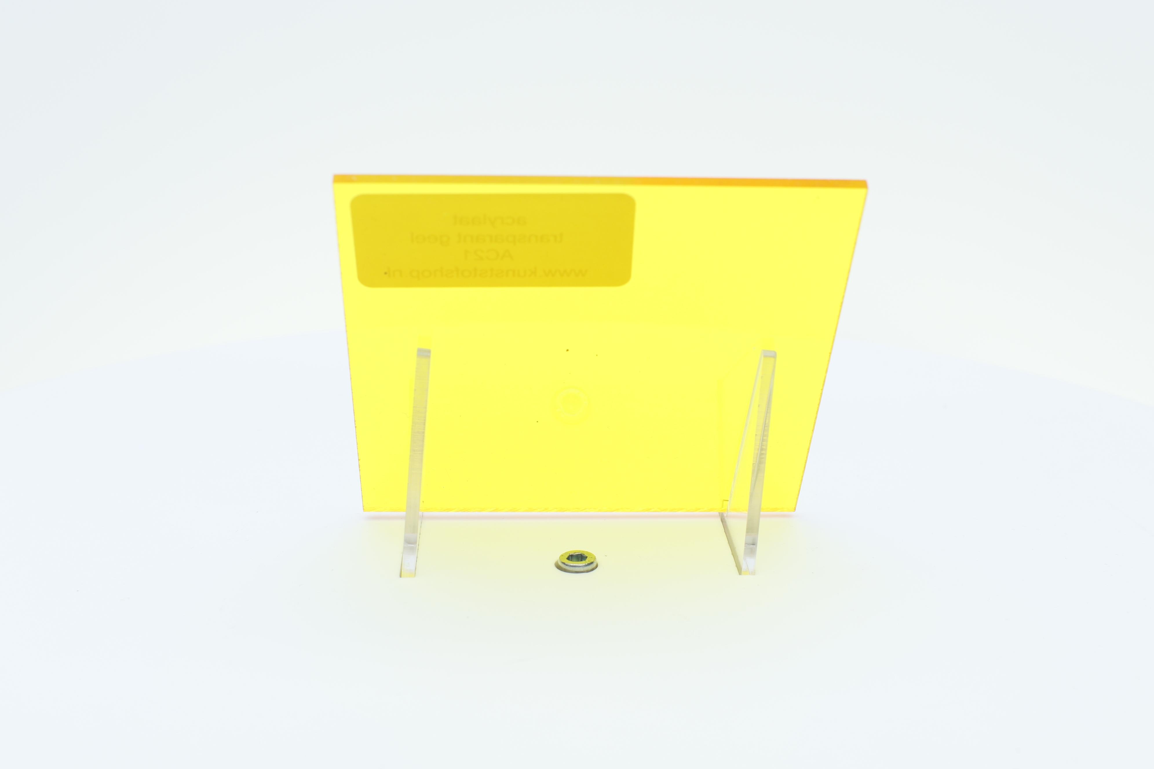 Acrylaat plaat transparant geel AC21