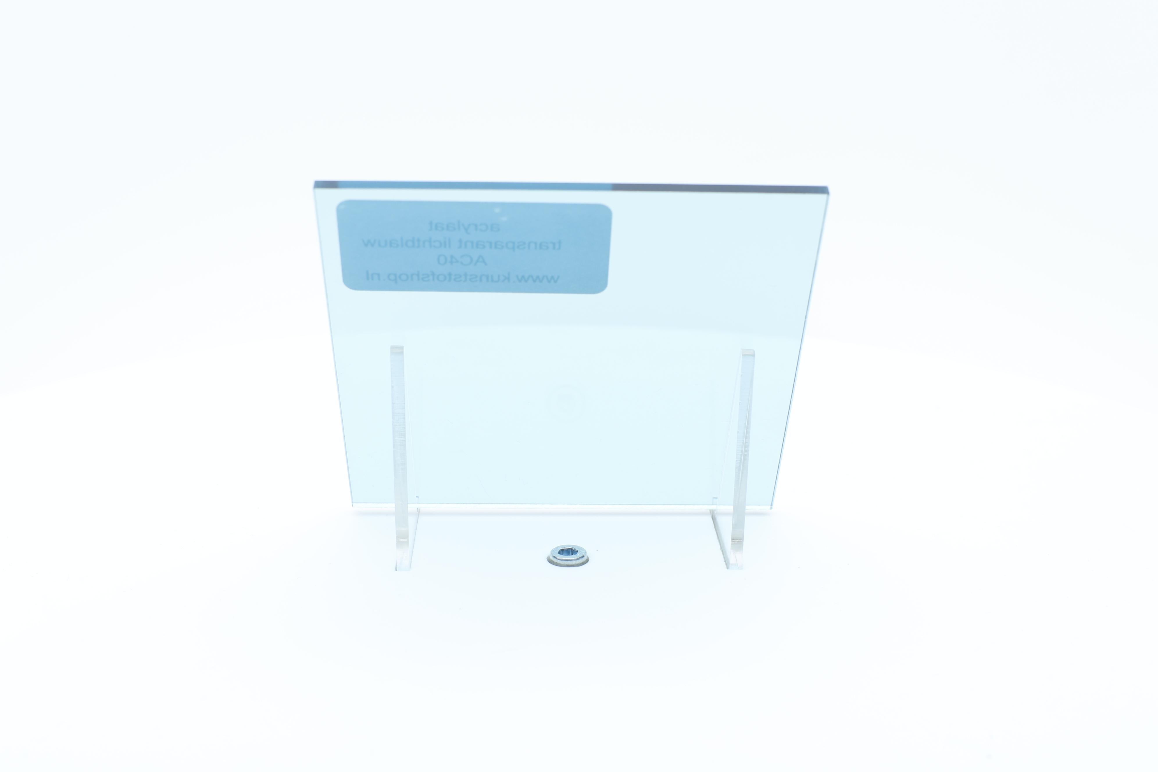 Acrylaat plaat transparant lichtblauw AC40
