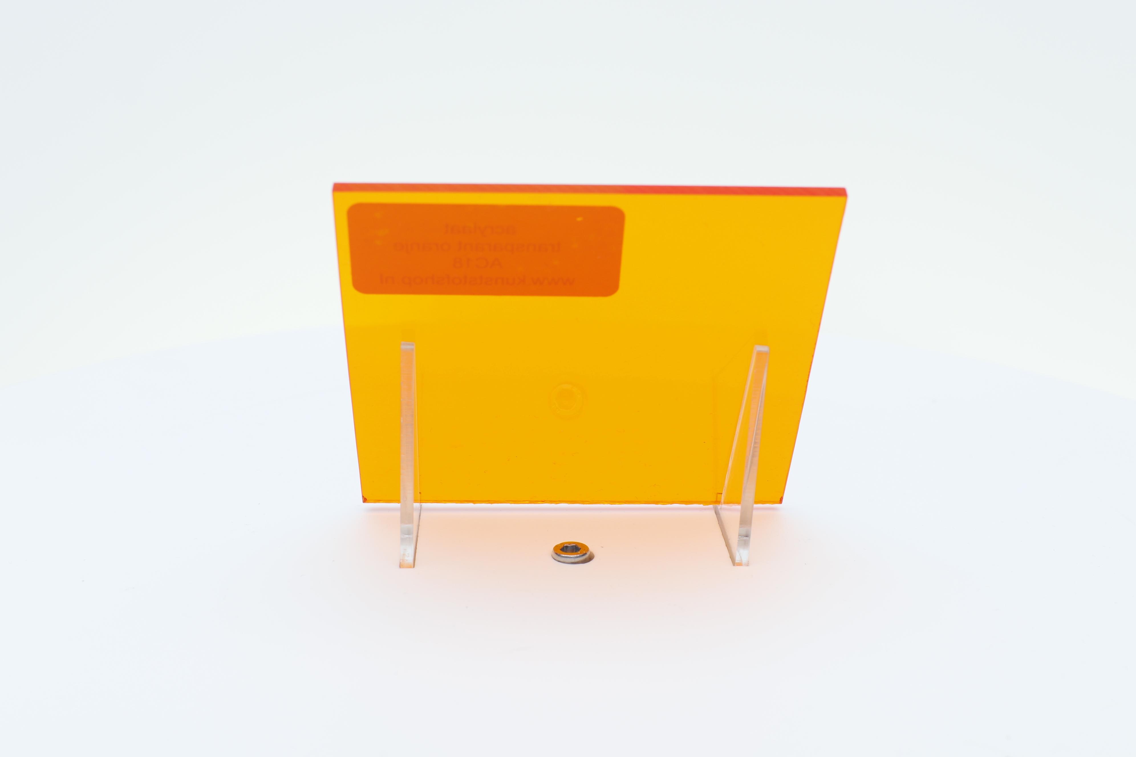Acrylaat plaat transparant oranje AC18