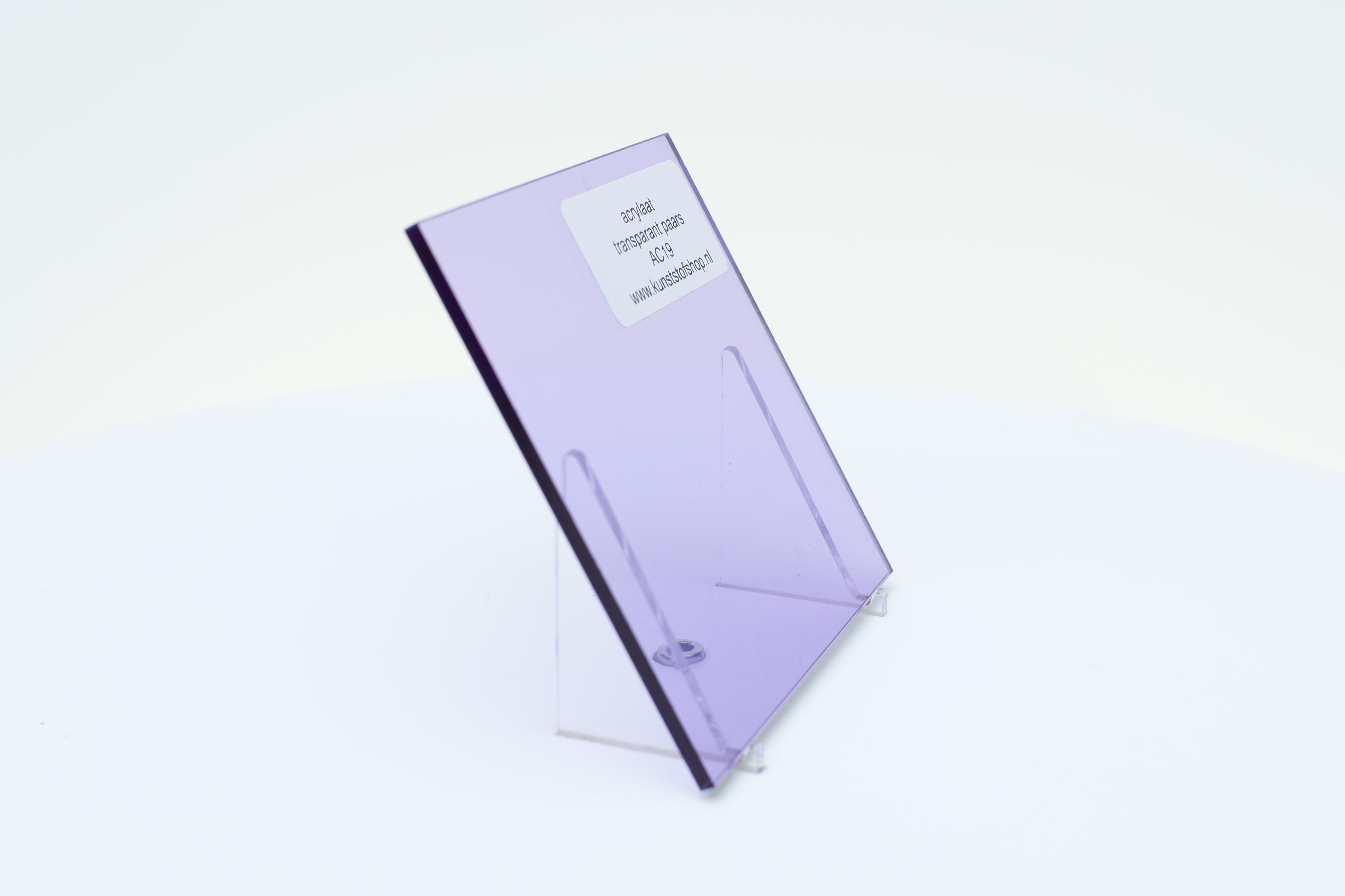 Acrylaat plaat transparant paars AC19