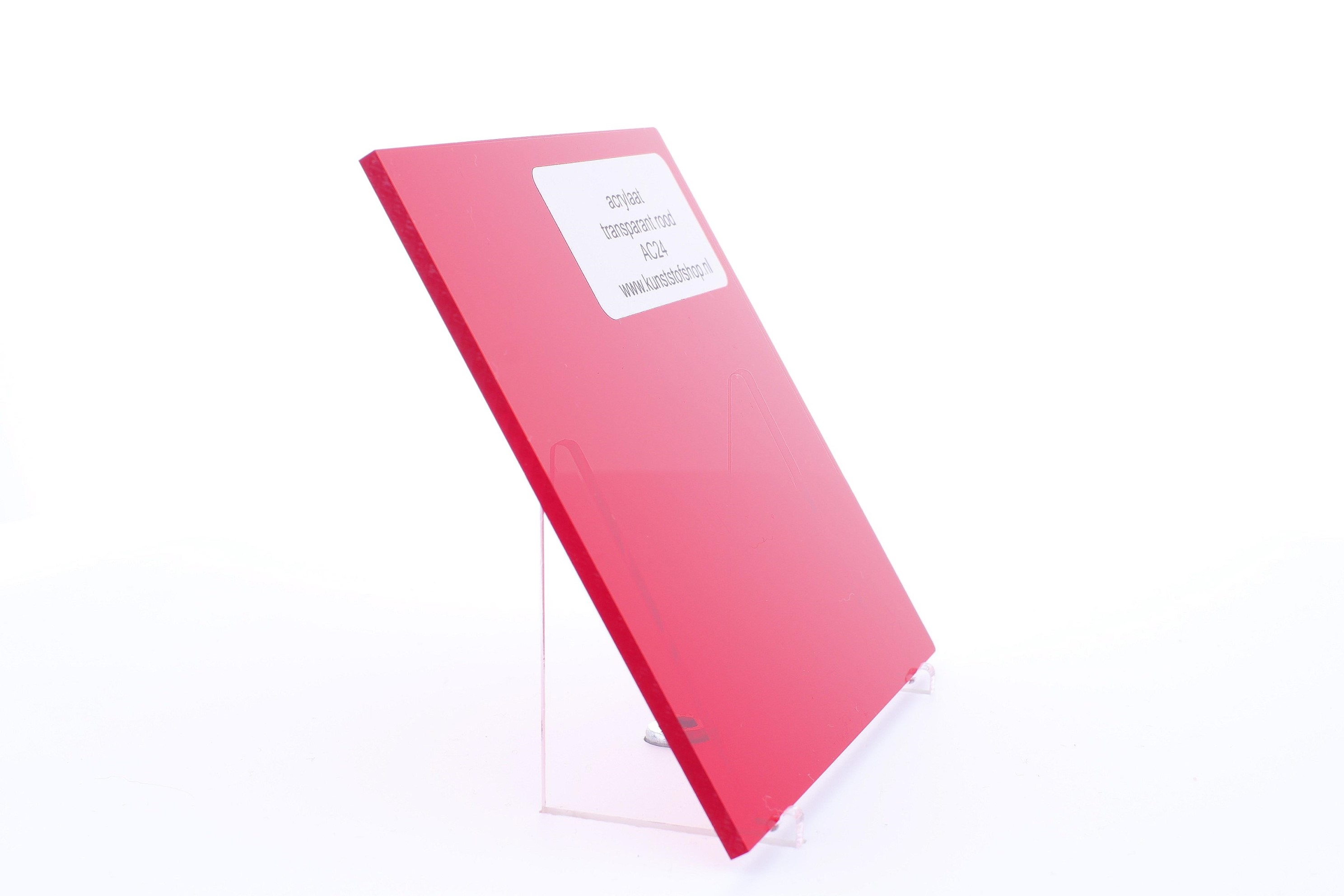 Acrylaat plaat transparant rood AC24