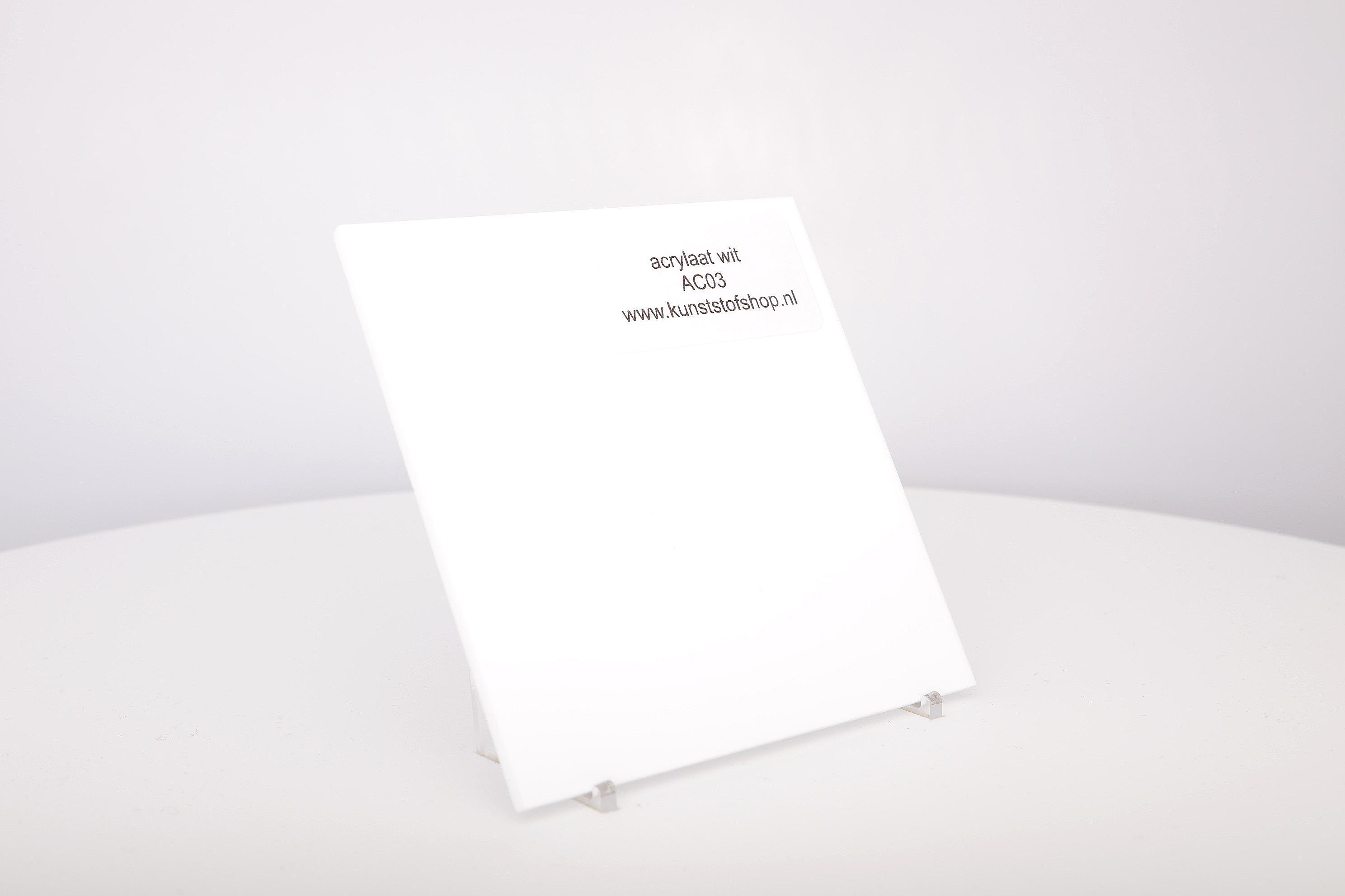 Acrylaat plaat wit glans AC03