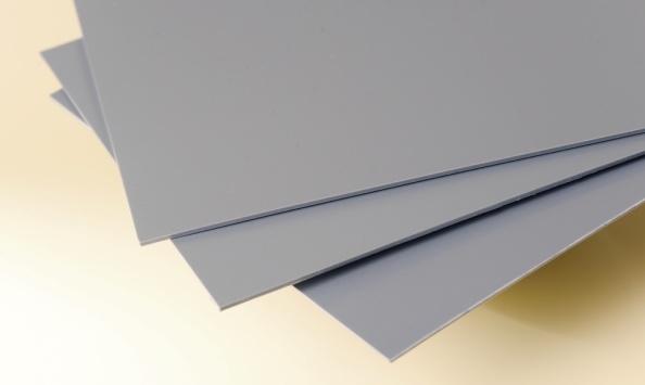Bio Polyethyleen plaat grijs ral 7042