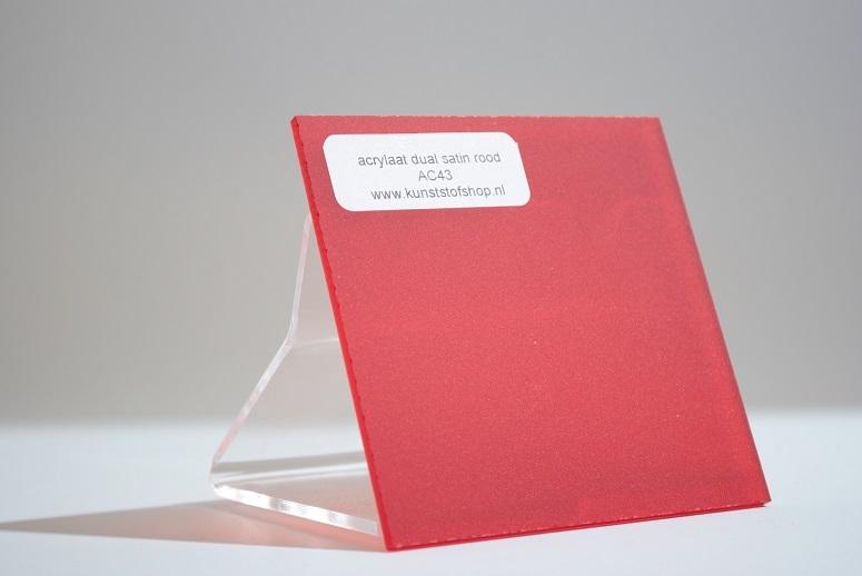 Monster acrylaat rood dubbelzijdig mat AC43