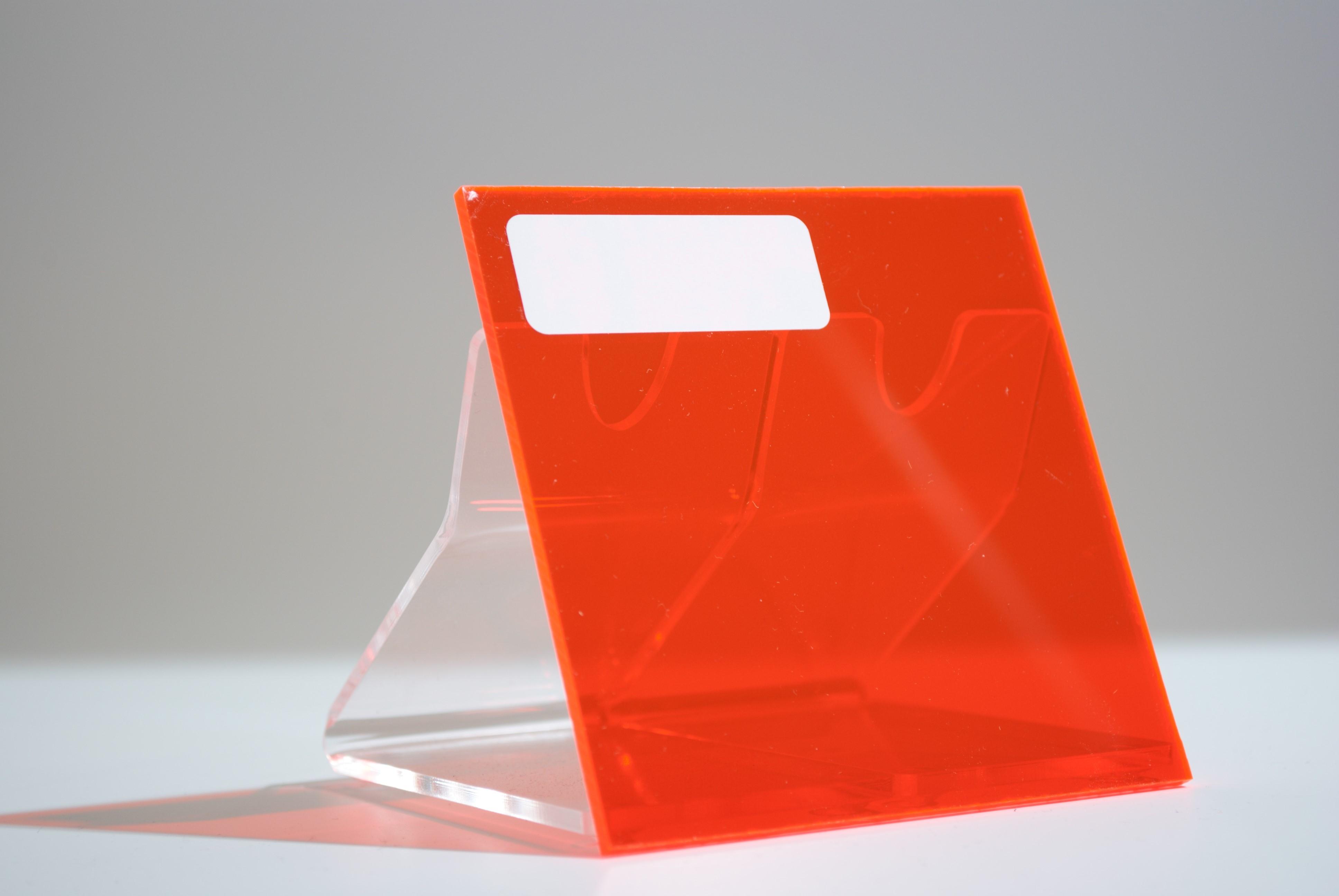 Monster acrylaat transparant fluor rood  AC 30