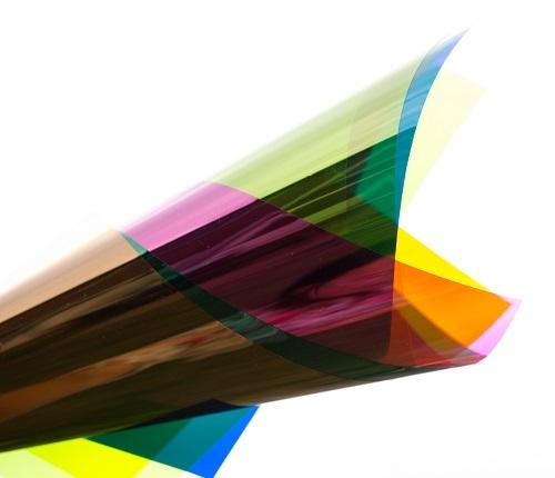 PVC folie transparant roze E002