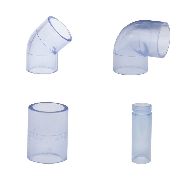 PVC transparante knie 90 graden