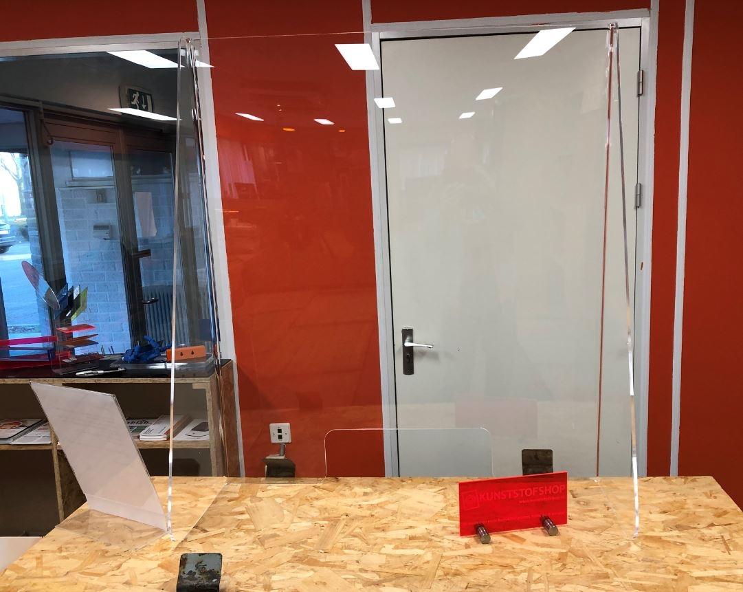 Transparante corona kap voor balie / toonbank