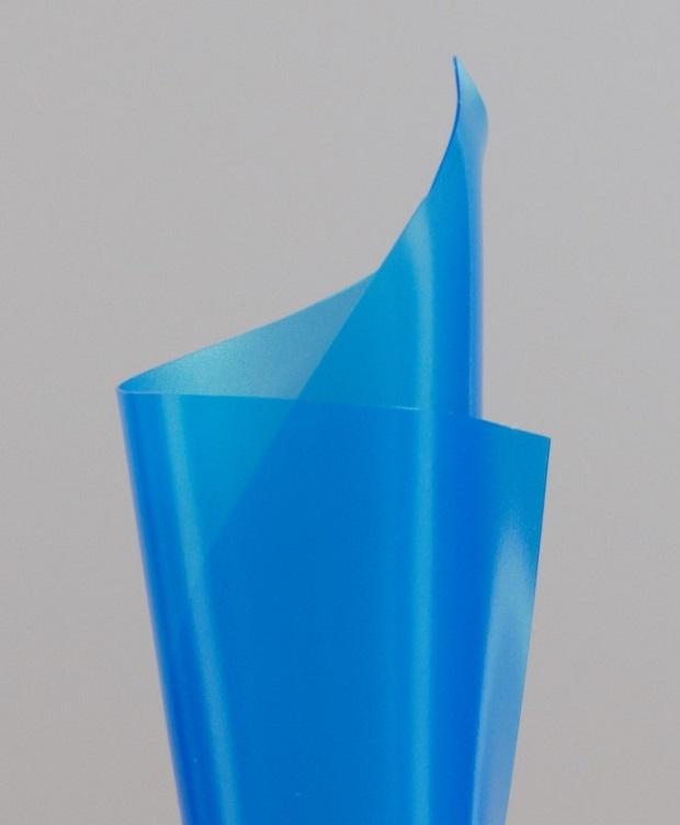 Zacht pvc kobalt blauw transparant-mat 0,15 mm