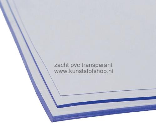 Zacht pvc transparant 1 mm