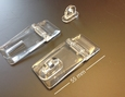 acrylic hinge transparent