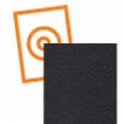 kydex plaat zwart een zijde fijne nerf P3 1000x600x2mm