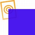 pvc folie transparant avond blauw 1220x530x0,10mm