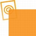 pvc folie transparant goud-oranje 1220x530x0,10mm