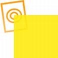 pvc folie transparant geel 297x210x0,10mm
